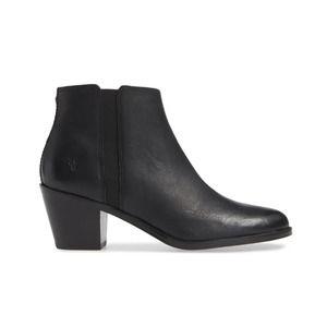 Frye Jolene Ankle Boot / Booties Black Leather 7.5